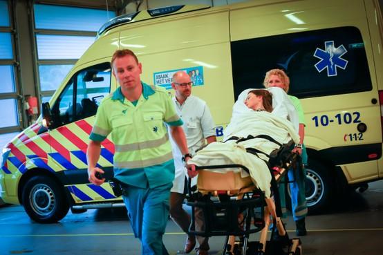 Zweet op rug personeel bij spoedhulp Dijklander Ziekenhuis