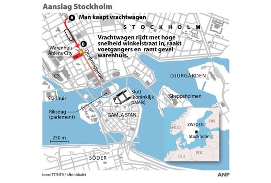Verdachte van aanslag in Stockholm opgepakt