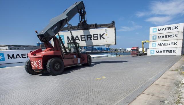 De containerterminal voor diepgevroren vis in IJmuiden doet goede zaken, meer dan 5400 containers vorig jaar