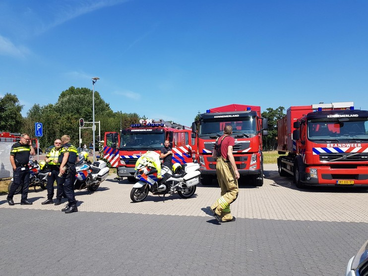 Grote duinbrand in Heemskerk is onder controle [update] [video]