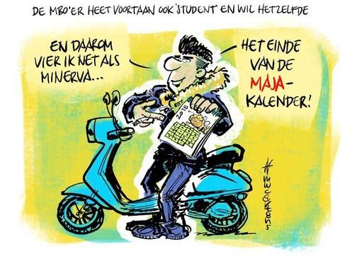 Cartoon: MBO'er wordt gelijk aan student