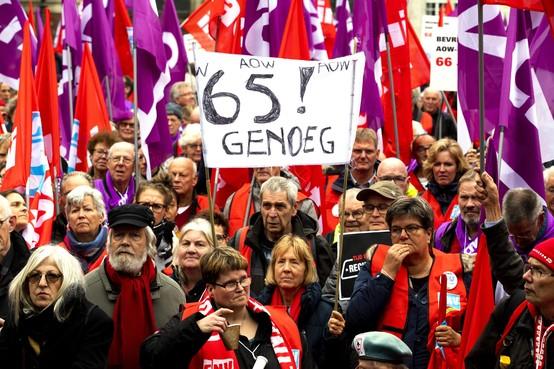Betogers Amsterdam eisen socialer Nederland