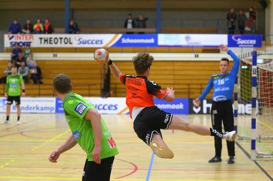 Handballers Volendam verliezen ruim van Belgische koploper: 'We bijten door mand zure appels heen'