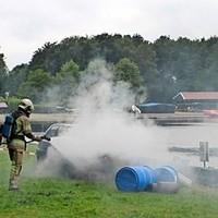 Beeld uit de brandweerwedstrijd