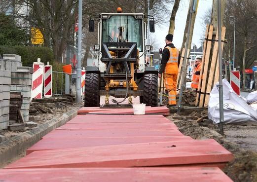Meer betonplaten op Haarlemse fietspaden