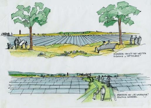 Schapenteelt kan op Texel onder de zonnepanelen