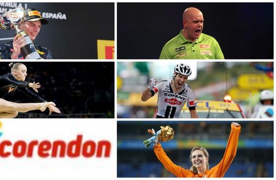 Vijf van de gegadigden voor de Publieksprijs. © ANP