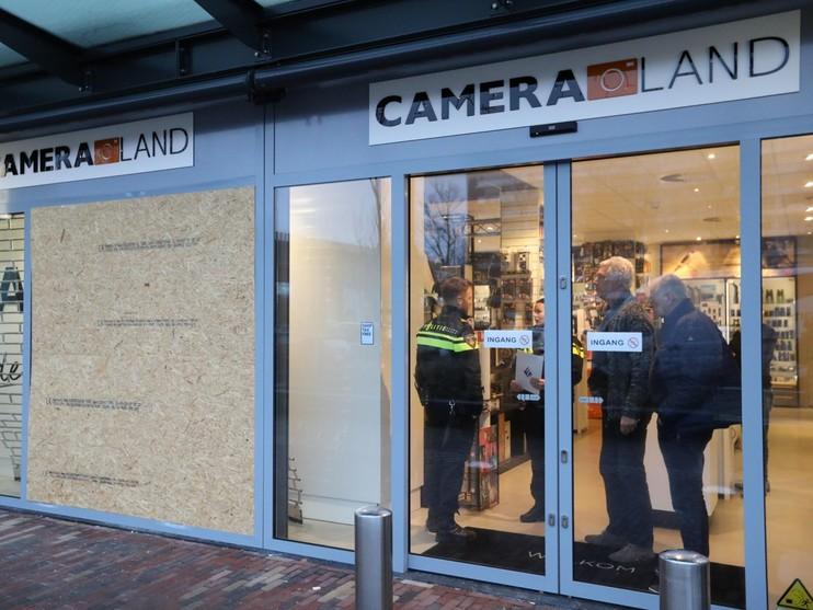 Ramkraak bij Cameraland in Alkmaar, drie aanhoudingen [update]