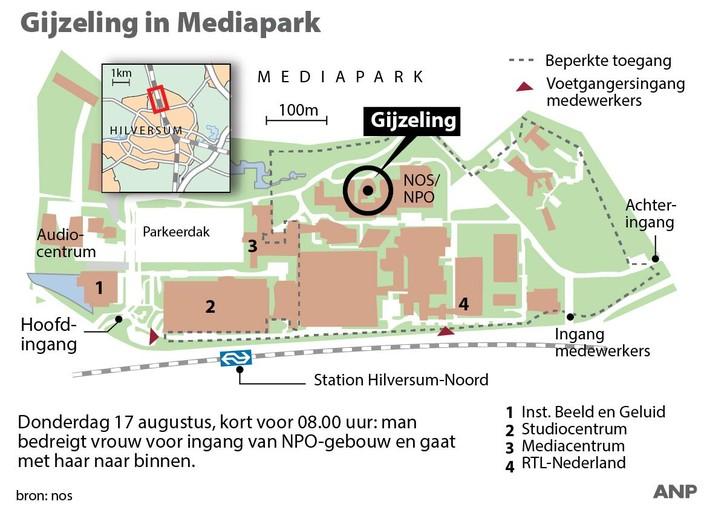 Gijzeling in NPO-gebouw Hilversum