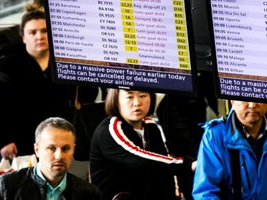 TUI en Transavia: geen uitval vluchten door stroomstoring Schiphol