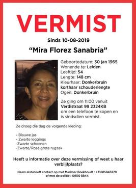 Moeder van studente zoek in Leiden: 54-jarige Arubaanse Mira Florez Sanabria sinds zaterdag niet meer gezien