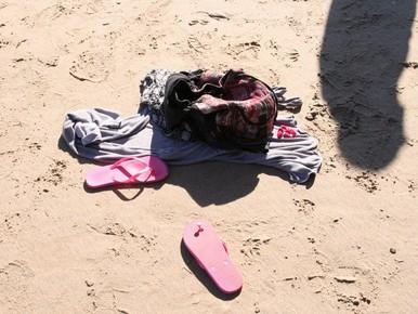Zwemster in problemen bij Noordwijk aan Zee