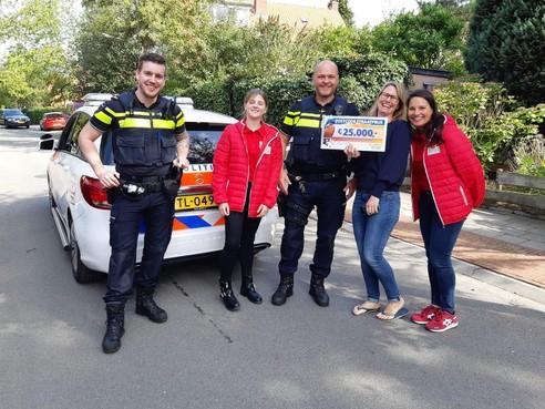 Politie gealarmeerd omdat Hilversumse de straatprijs van de Postcode Loterij wint