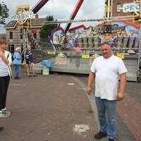 Kermisexploitant Corry Sipkema is eigenaar van de attractie Project 1.