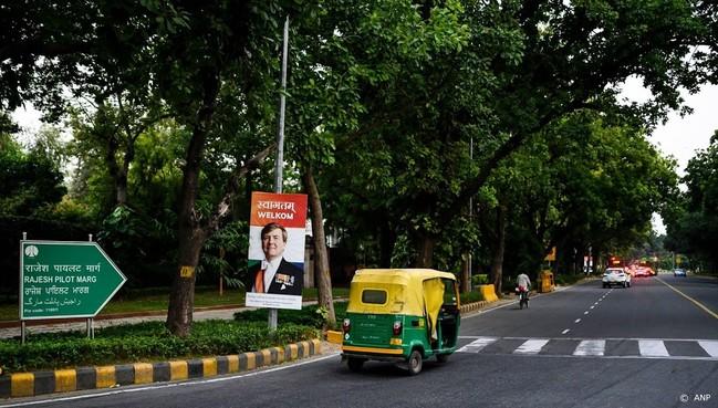 Koningspaar aangekomen in New Delhi