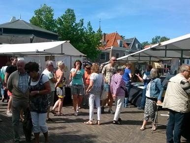 Kunstmarkten van start in Spaarndam