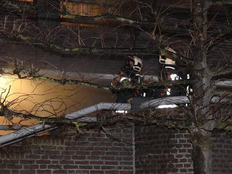 Brand in kelderbox bij winkelcentrum Winkelhof in Leiderdorp