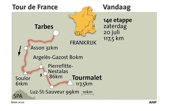 Tourmalet geen geliefde berg voor Nederlanders [met interactief kaartje]