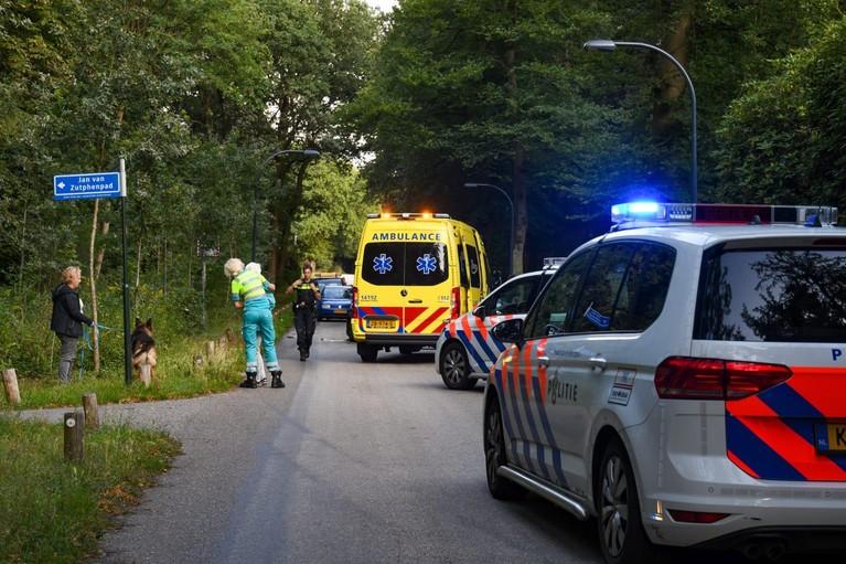 Forse schade bij ongeluk in het Loosdrechtse Bos in Hilversum