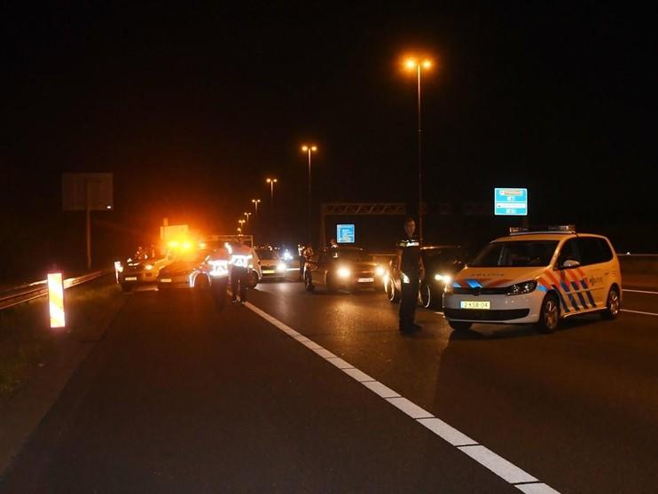 Motorrijder raakt gewond op A4 bij Leiderdorp