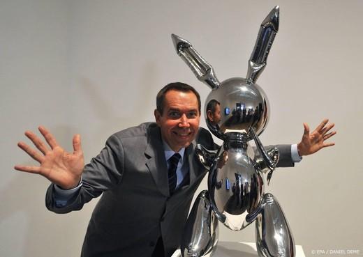 Recordbedrag voor stalen konijn van Jeff Koons