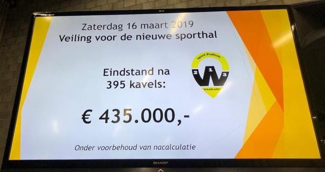 'Sporthal Waarland kunnen we nu in één keer goed aanpakken na historische veiling'