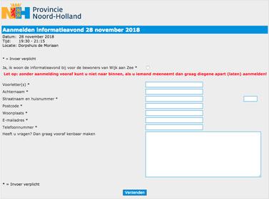 'Zonder aanmelding kunt u niet naar binnen' bij infoavond over zwarte regens in Wijk aan Zee