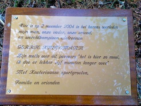 Toch gedenkplaat voor Gerrie Knetemann