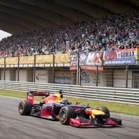 Formule 1-coureur Max Verstappen tijdens het familie-evenement Racedagen, driven by Max Verstappen op Circuit Park Zandvoort.