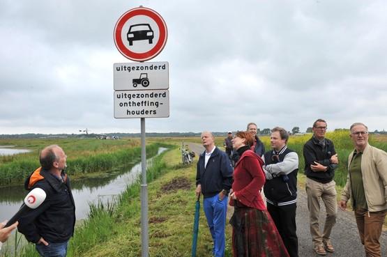Noordermaatweg in Heemskerk 'eindelijk autovrij', weerstand tegen rood asfalt