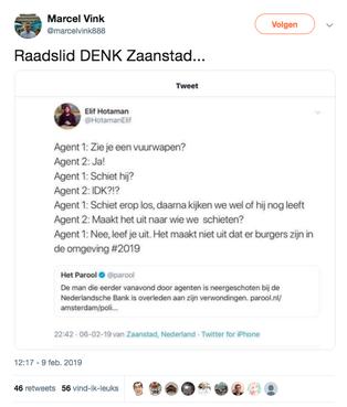 Zaans raadslid Elif Hotaman biedt excuus aan voor tweet over schietende agenten