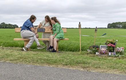 Proosten op begin dit jaar overleden Patrick op de plek waar het noodlot toesloeg