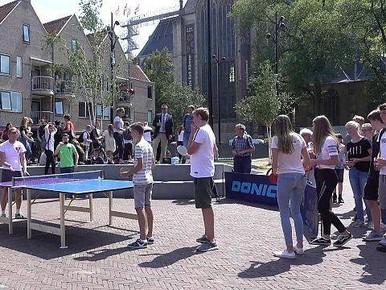 Recordpoging langste tafeltennisrally mislukt in Alkmaar [video]