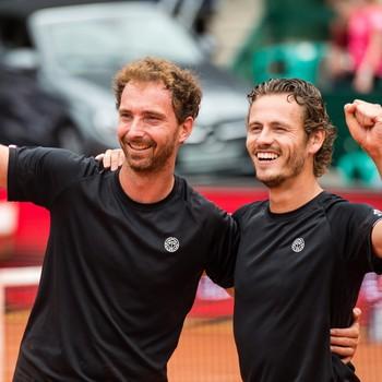Wesley Koolhof (R) and Matwe Middelkoop. © EPA