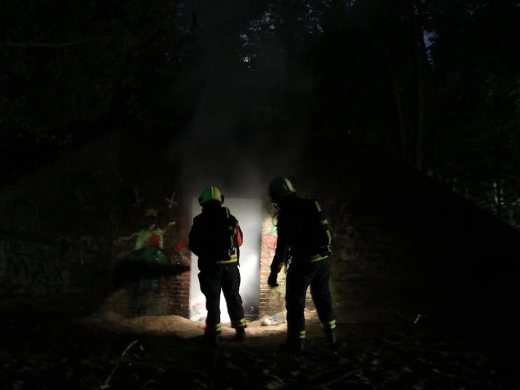 Scooter brandt af in bunker in Noordwijkerhout