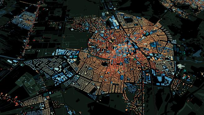 Bouwjaar van miljoenen panden op 3D-kaart