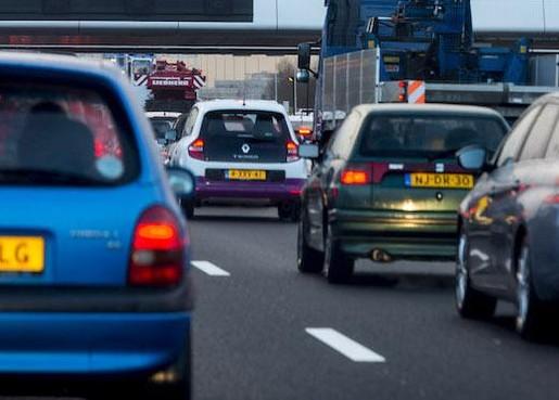 File na ongeval op A44 bij afslag Noordwijkerhout