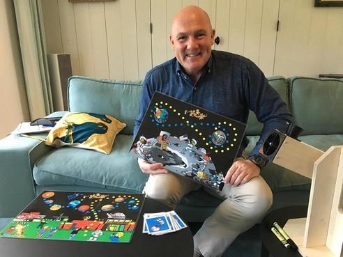 Ook astronaut André Kuipers is wel in voor stevig robbertje Star Run