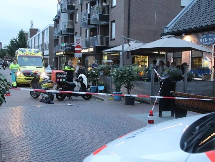 Gewonde bij botsing scooters in Lisse