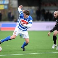 Danny van den Meiracker eerder dit seizoen, op weg naar een treffer tegen RVVH.