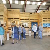 Het beginpunt in biologische-tuinderij De Lepelaar in 't Rijpje van Kunst op Locatie.