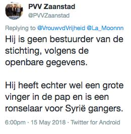 Aangifte tegen PVV Zaanstad wegens laster