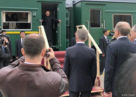 Kim Jong-un aangekomen in Vladivostok