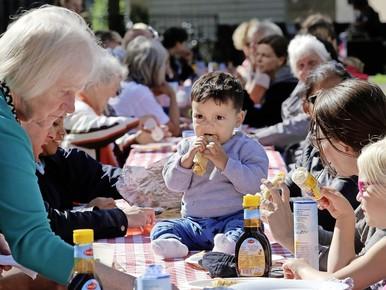 Hilversum Zuid eet aan tafel van vijfentwintig meter