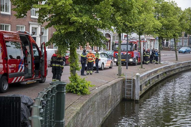 Overleden persoon aangetroffen in het Spaarne van Haarlem