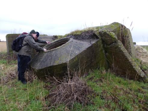 Bunker voor Duitse vliegtuigspotters