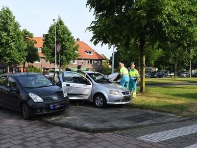 Vrouw raakt gewond bij botsing in Leiden