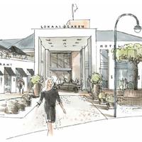 Sfeerbeeld van het hotelplan voor het Rabobank-pand.