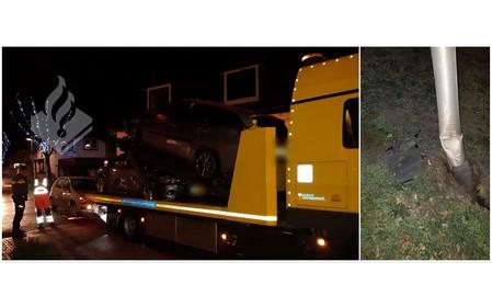 Beschonken bestuurder zorgt voor ravage in Bussum