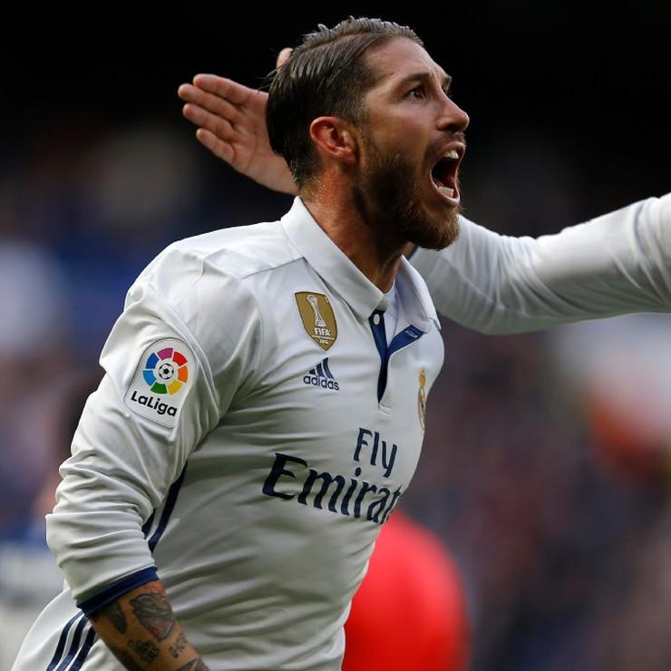 Sergio Ramos heeft er weer een in liggen. © AP
